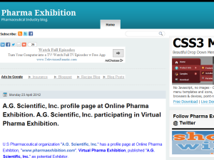 Pharma Exhibition Web Domain Authority Directory