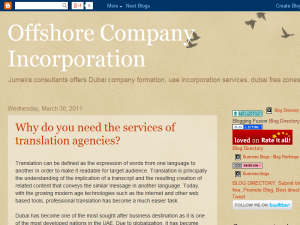 Dubai company formation, Uae incorporation services Web Domain Authority Directory