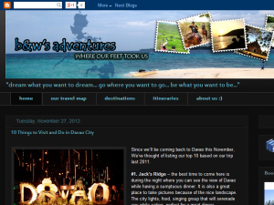 b&w's adventures - traveling the Philippines with bembem and weng Web Domain Authority Directory