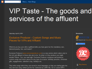 VIP Taste - The goods and services of the affluent Web Domain Authority Directory