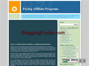 Paying Affiliate Programs Web Domain Authority Directory