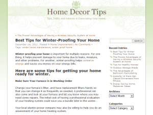 Home Decor Tips Web Domain Authority Directory