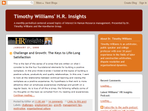 Timothy Williams' HR Insights