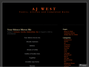 Poet AJ West Web Domain Authority Directory