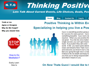 Positive Thinking is Gucci Web Domain Authority Directory