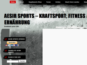 Aesir Sports - Kraftsport, Fitness & Ernährung Web Domain Authority Directory