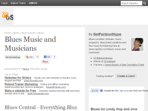 Blues Music and Musicians Web Domain Authority Directory