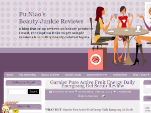 Pu Niao's Beauty Junkie Reviews Web Domain Authority Directory