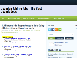 Ugandan Jobline Jobs Web Domain Authority Directory