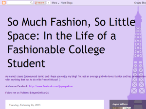 So Much Fashion, So Little Space Web Domain Authority Directory
