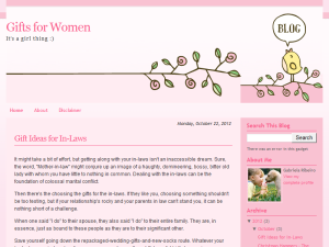 Gifts for Women Web Domain Authority Directory