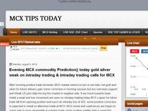 MCX TIPS TODAY Web Domain Authority Directory