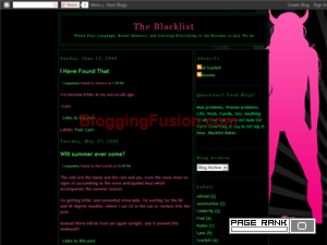 The Blacklist Web Domain Authority Directory