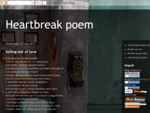 Heart break poem