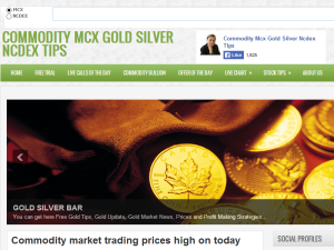 COMMODITY MCX GOLD SILVER NCDEX TIPS Web Domain Authority Directory