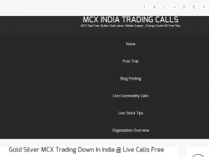 MCX INDIA STOCK TRADING CALLS Web Domain Authority Directory