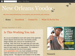New Orleans Voodoo Web Domain Authority Directory
