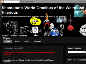 Shamatae's World Omnibus of the Weird and Hilarious Web Domain Authority Directory