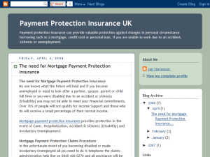 Payment Protection Insurance UK Web Domain Authority Directory