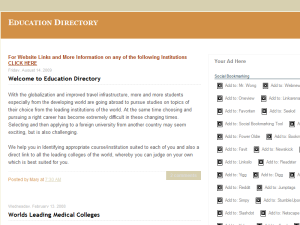 Education Directory Web Domain Authority Directory