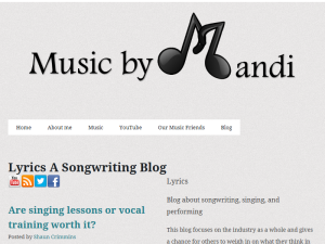Lyrics, A Songwriting Blog Web Domain Authority Directory