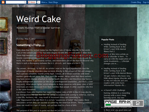 Weird Cake: Treats from a Bipolar Mind Web Domain Authority Directory