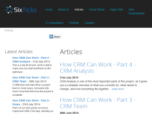 Six Ticks CRM Blog Web Domain Authority Directory