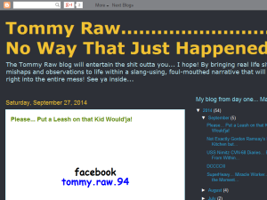 Tommy Raw... No Way That Just Happened Web Domain Authority Directory