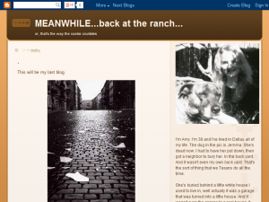 MEANWHILE - back at the ranch Web Domain Authority Directory