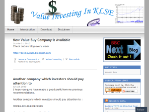 Value Investing In KLSE Web Domain Authority Directory