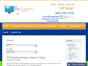 My Tax Courses Online Blog Web Domain Authority Directory