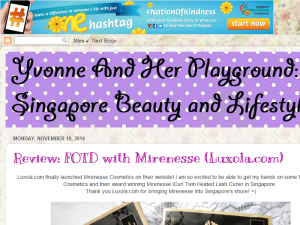 Yvonne And Her Playground Beauty & Lifestyle Blog Web Domain Authority Directory