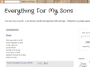 Everything For My Sons Web Domain Authority Directory