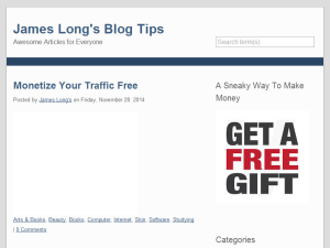 James Long's Blog Tips Web Domain Authority Directory