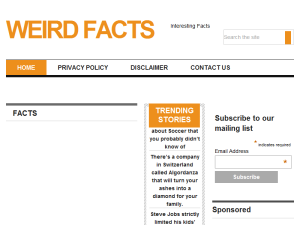 Weird facts Web Domain Authority Directory