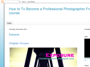 How To Become a Professional Photographer Free course Web Domain Authority Directory