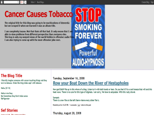 Cancer Causes Tobacco Web Domain Authority Directory