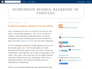 Suspension Bushes Web Domain Authority Directory