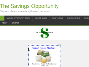 The Savings Opportunity Web Domain Authority Directory