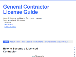 General Contractor License Requirements Web Domain Authority Directory