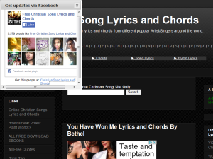 Christian Song Lyrics and Chords Web Domain Authority Directory