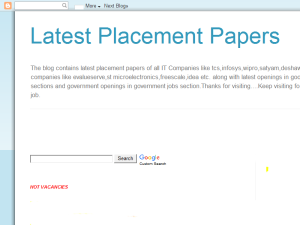 Latest placement papers Web Domain Authority Directory