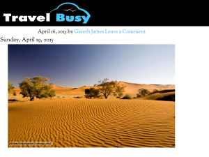 Travel Busy Web Domain Authority Directory