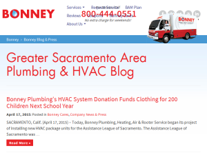 Bonney Plumbing, Heating & Air Web Domain Authority Directory
