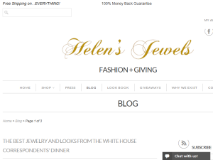 Helen's Jewels Blog Web Domain Authority Directory