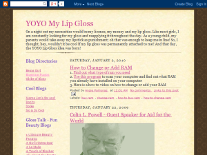 YOYO MY Lip Gloss Web Domain Authority Directory