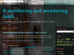 A wandering and wondering lamb Web Domain Authority Directory