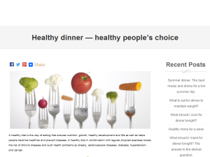 Healthy dinner - healthy people's choice Web Domain Authority Directory