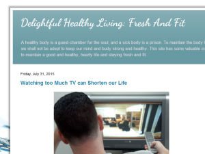 Delightful Healthy Living: Fresh And Fit Web Domain Authority Directory