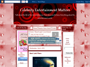 Celebrity Entertainment Matters Web Domain Authority Directory